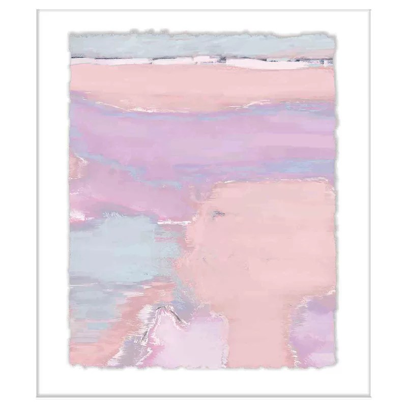 abstract pastels framed oil