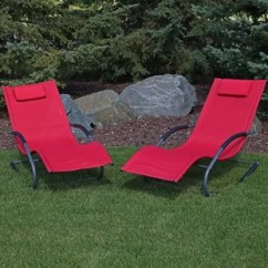Red Chaise Lounge Chair Covers White Wedding Outdoor Chairs You Ll Love Wayfair Warfel Rocking Wave With Pillow Set Of 2