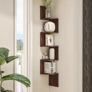 modern corner shelves for living room spotlights ideas wall display you ll love wayfair ridgeway shelf