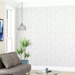 Wall Panels For Living Room Using Carpet Tiles Faux Brick Wayfair Liljenquist 25 9 X 2 28 3d Embossed Peel And Stick Wallpaper Panel