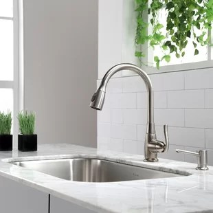 kitchen faucet single hole faucets sale you ll love wayfair quickview