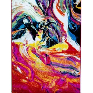 modern contemporary bright multi colored wall art allmodern