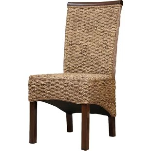 comfortable wicker chairs pine kitchen with arms rattan dining you ll love wayfair soleil birchwood chair