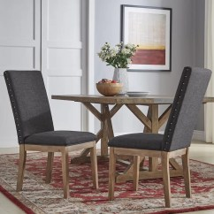 Nailhead Upholstered Dining Chair Folding Urban Dictionary Three Posts Tamarack Linen Wayfair