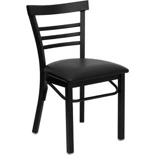 white ladder back chairs rush seats modern grey wayfair quickview