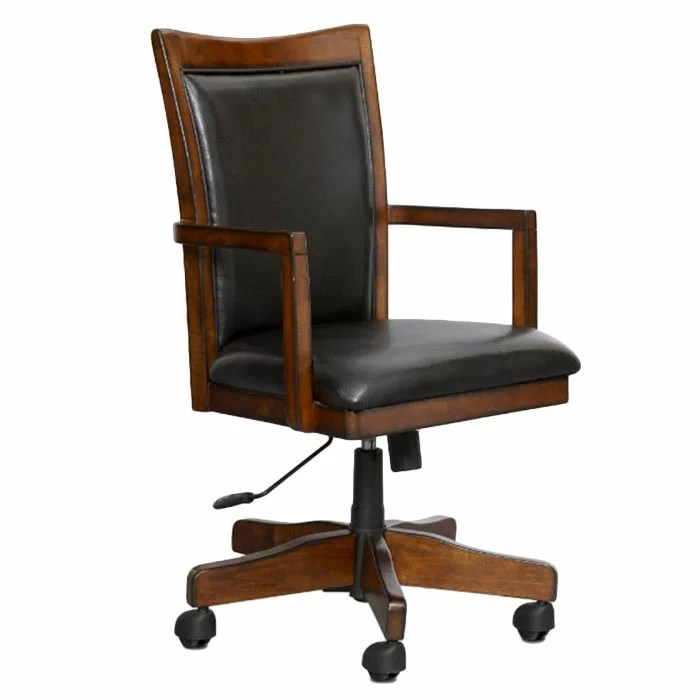 desk chair made wooden porch rocking chairs loon peak keefe reviews wayfair