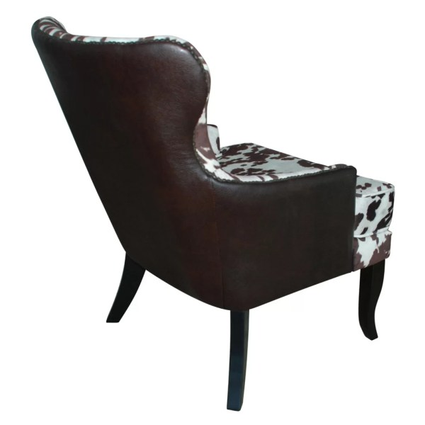 Nspire Faux Cowhide Accent Wing Chair &