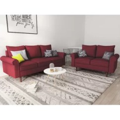 Red Living Room Set Side Tables For Modern Sets You Ll Love Wayfair Quickview