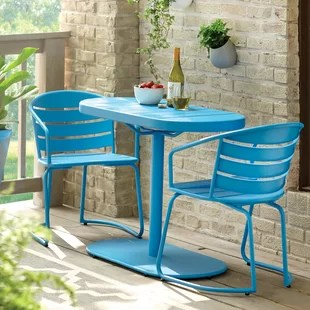 bistro chairs dining room conference tables and philippines teal set wayfair quickview