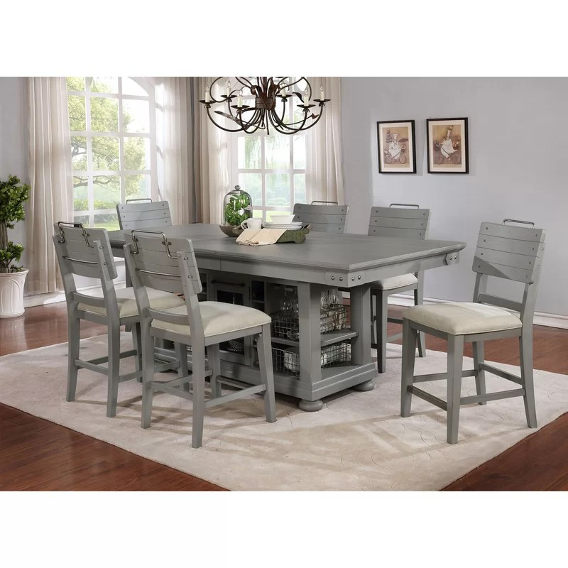 kitchen island set banquette table darby home co blaire wayfair