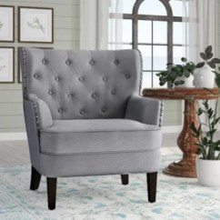 Grey And White Accent Chair Swing Jhula Chairs You Ll Love Wayfair Quickview
