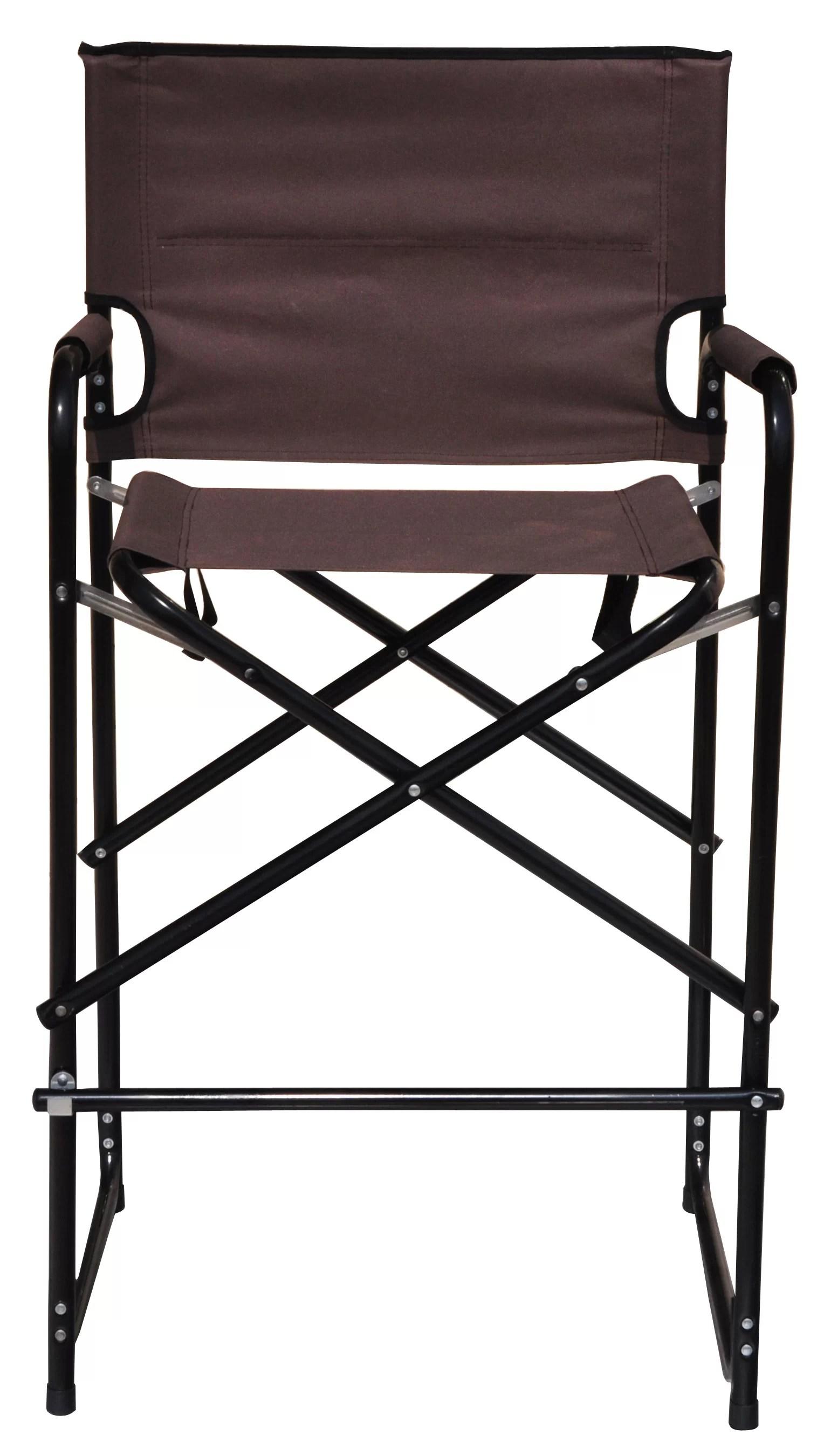 tall folding chairs directors aluminum chaise lounge trademark innovations director chair wayfair