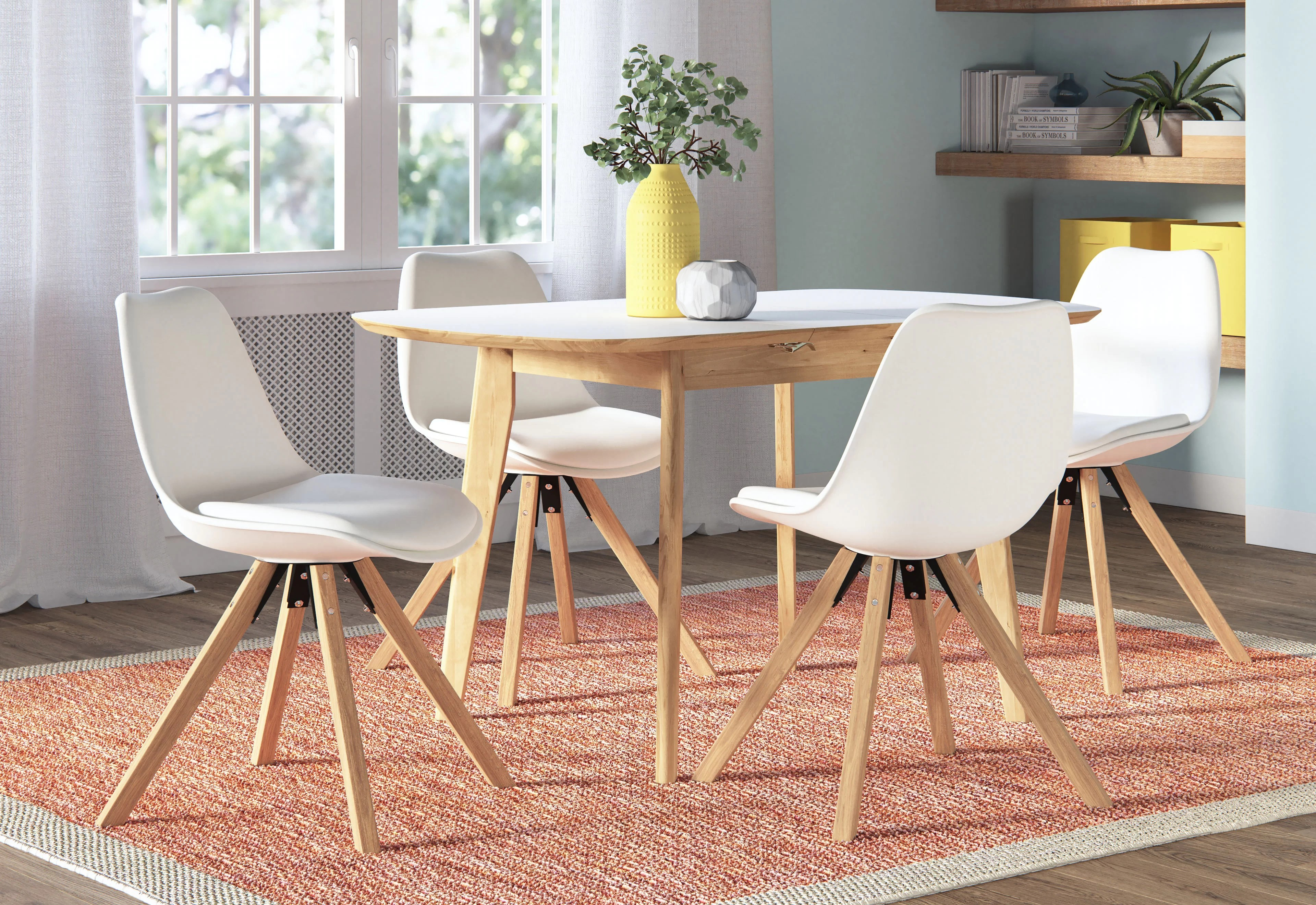 Dining Room Chairs Set Of 4 Fabron Extendable Dining Set With 4 Chairs
