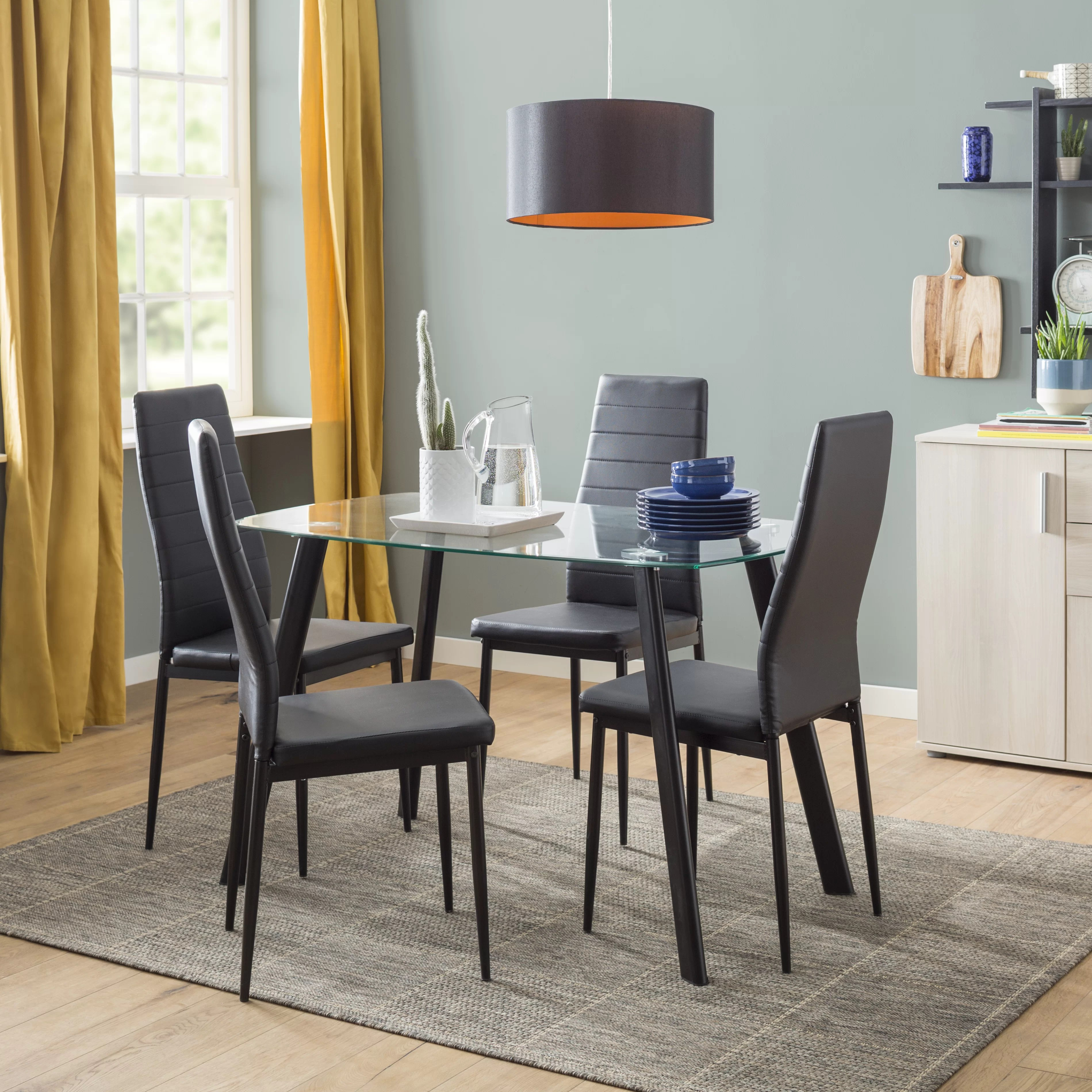 Dining Room Chairs Set Of 4 Hillary Dining Set With 4 Chairs