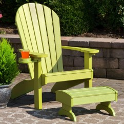 Poly Wood Adirondack Chairs Patio Plastic Bayou Breeze Deniela Polywood Chair With Ottoman Wayfair