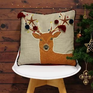 christmas chair covers ireland childrens and table stag cushion wayfair co uk ahmed cotton cover