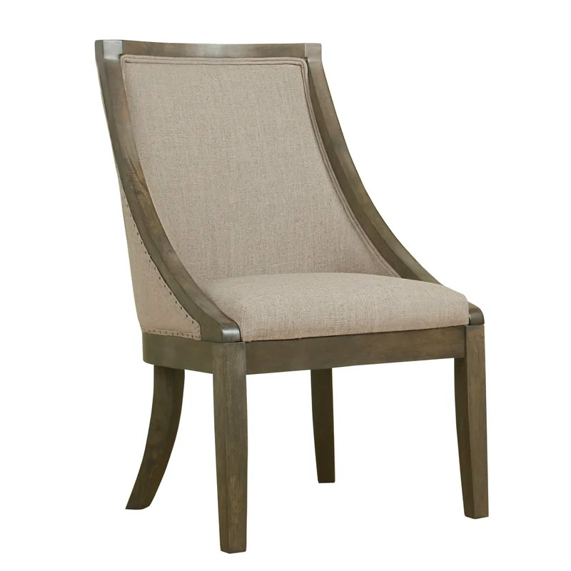industrial dining chair camping tent rawley upholstered reviews birch lane