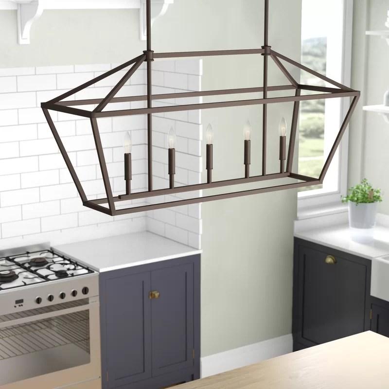 kitchen pendant couch laurel foundry modern farmhouse freemont 5 light island