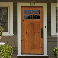 CreativeEntryways Shaker Craftsman 4 Lite Beveled Ready to