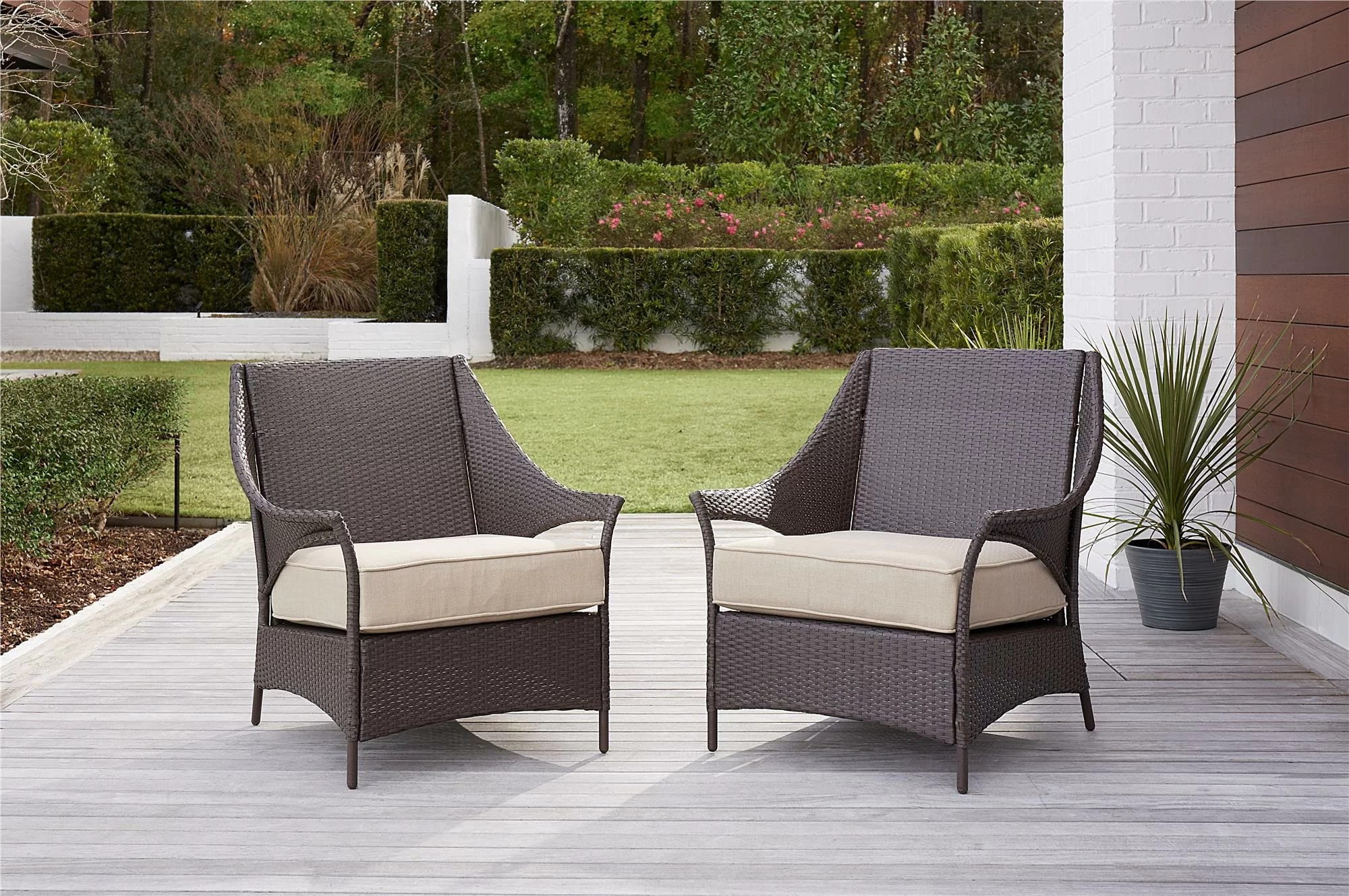 Outdoor Chair Set Ismay Outdoor Chair With Cushions