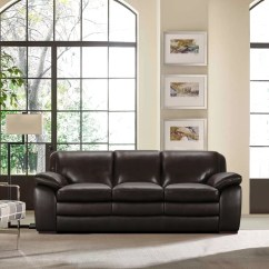 Modern Brown Leather Sofa Disassembly Latitude Run Talon Contemporary Wayfair Ca