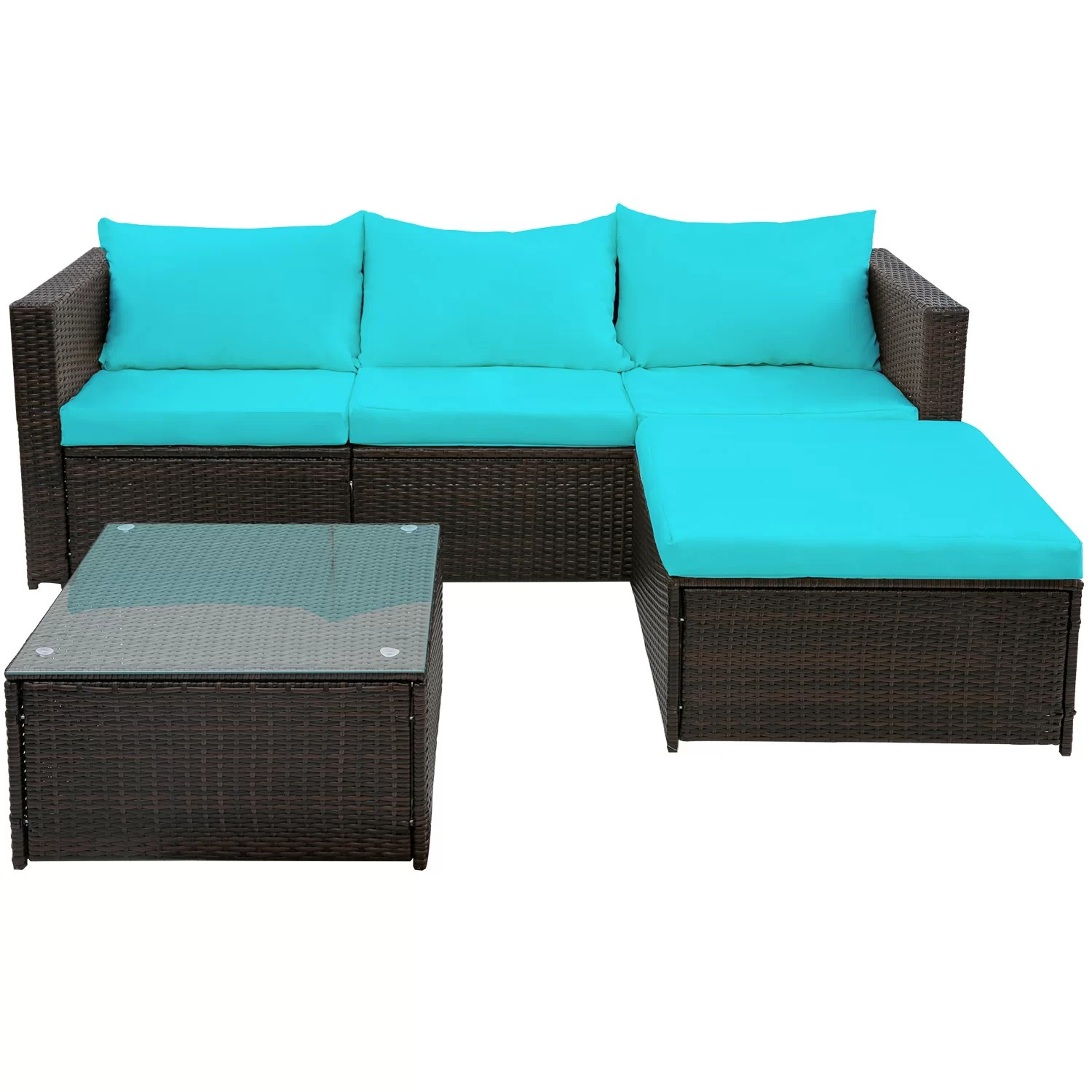 Rattan 3 Piece Sofa Courson 3 Piece Rattan Sofa Seating Group With Cushions