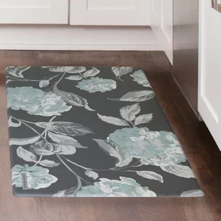 grey kitchen mat traditional cabinets pictures mats you ll love wayfair hydrangea