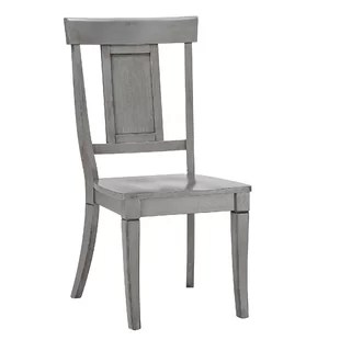 white distressed dining chairs wooden wicker finish birch lane quickview antique gray