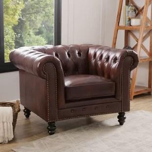 leather living room chairs dark grey flooring you ll love wayfair ca save