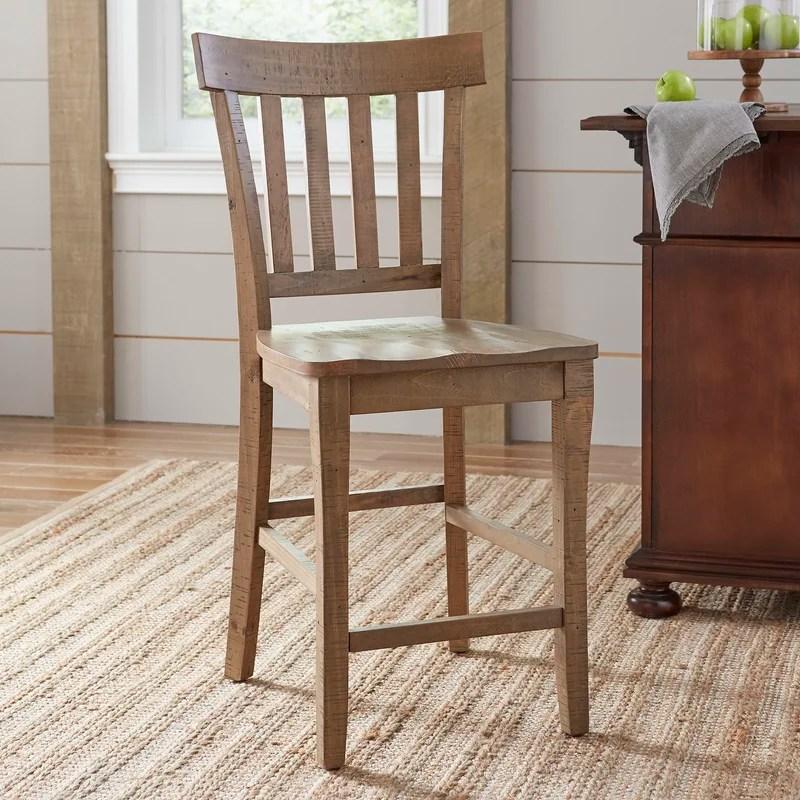 counter height chair handmade wood for home birch lane heritage seneca 24 stool reviews