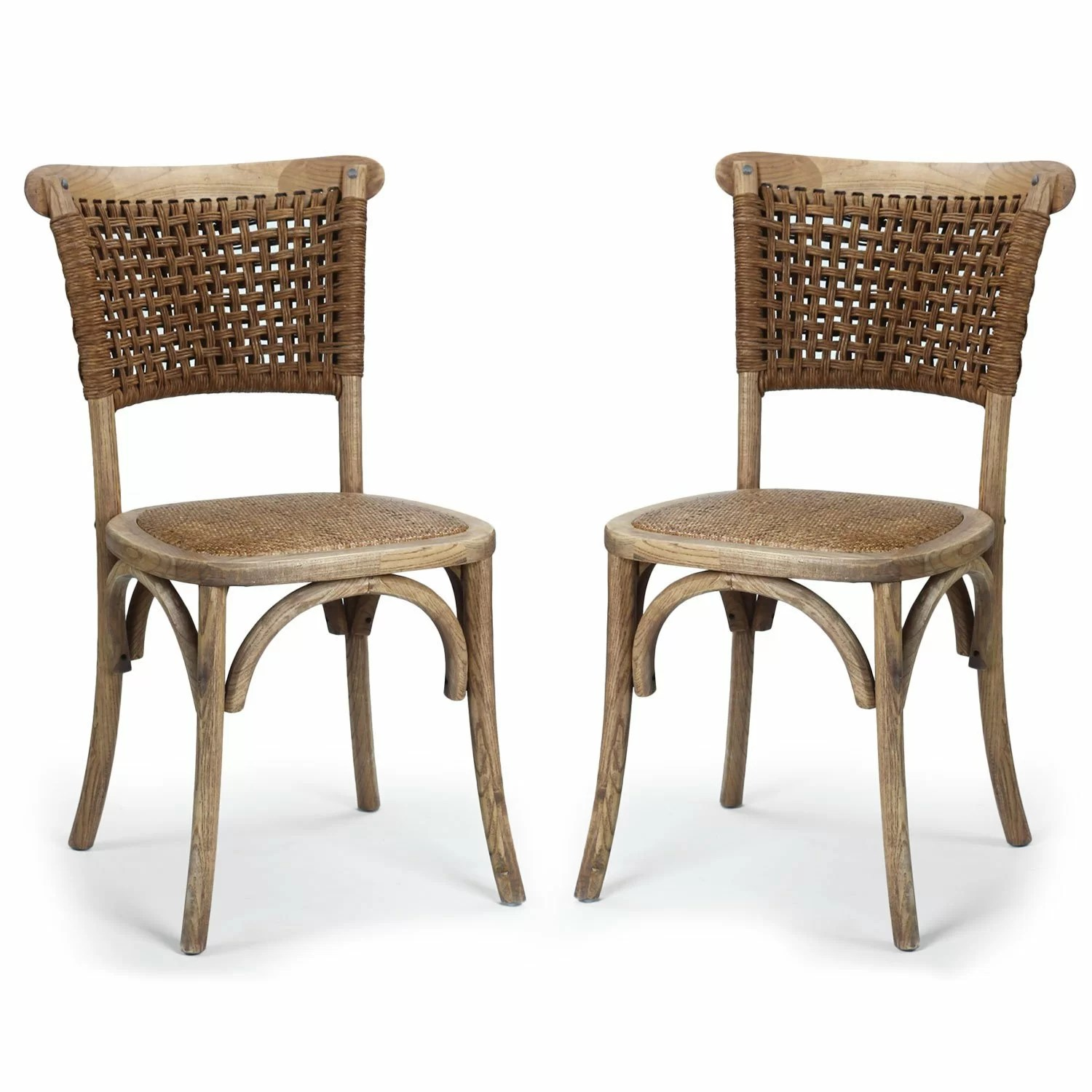 Unfinished Wood Dining Chairs Adecotrading Dining Cane Solid Wood Dining Chair And Reviews