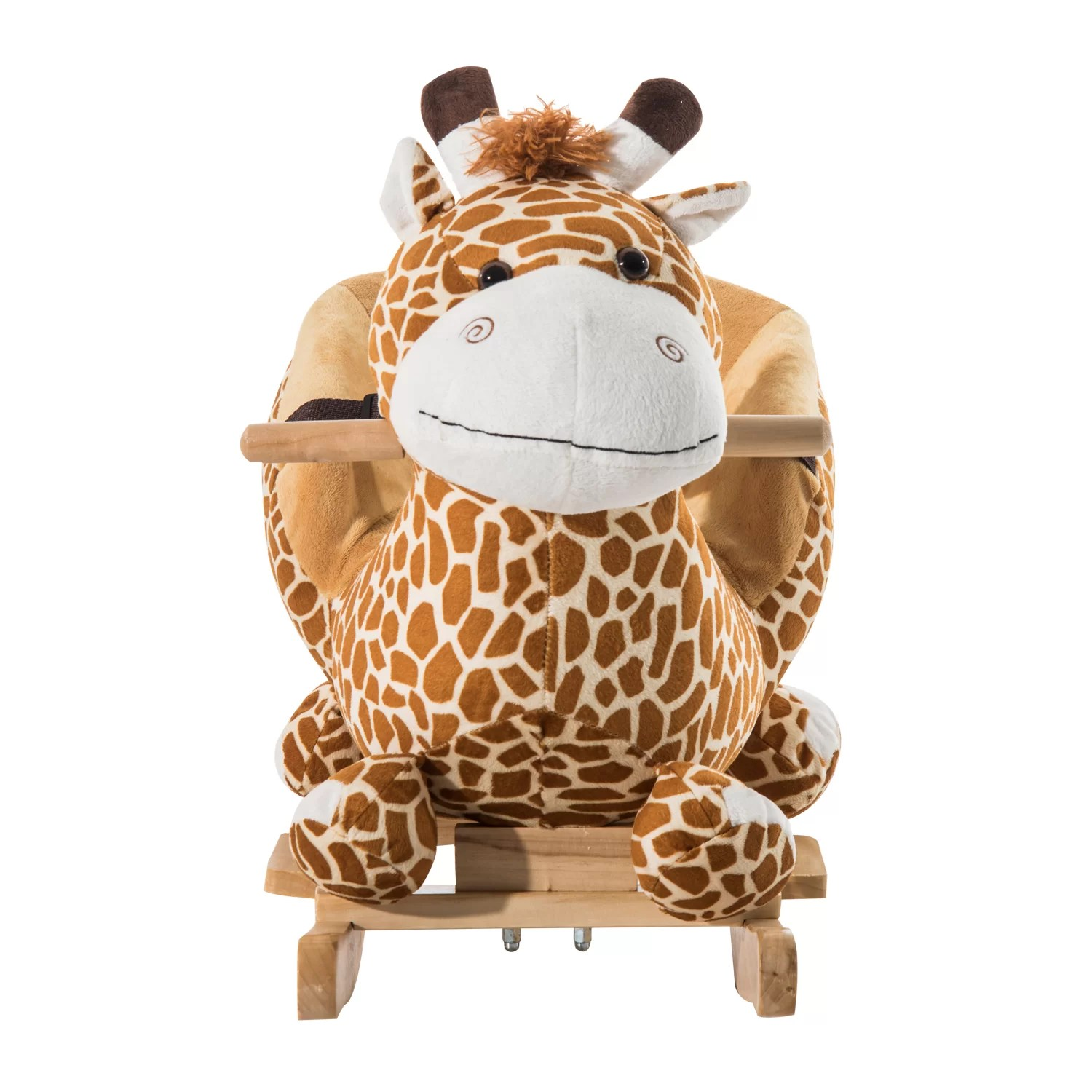 Giraffe Rocking Chair Qaba Giraffe Plush Rocking Horse And Reviews Wayfair