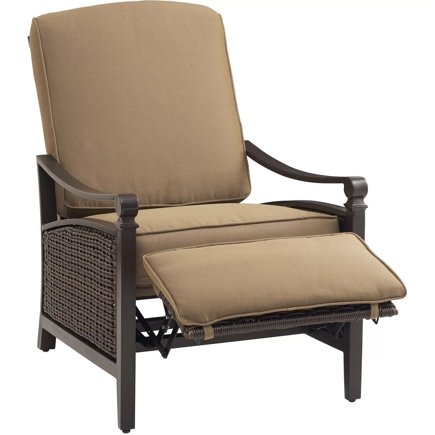 Outdoor Reclining Chair La Z Boy Carson Luxury Outdoor Recliner Chair With Cushion