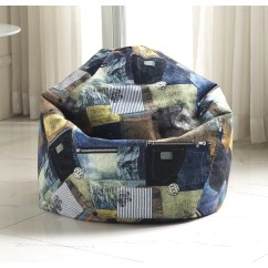 Denim Bean Bag Chair American Flag Cushions Zipcode Design Print And Reviews