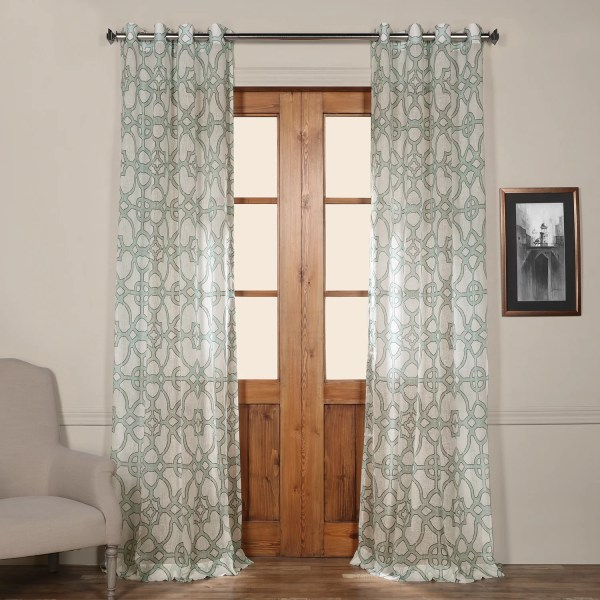 Sheer Grommet Curtain Panels
