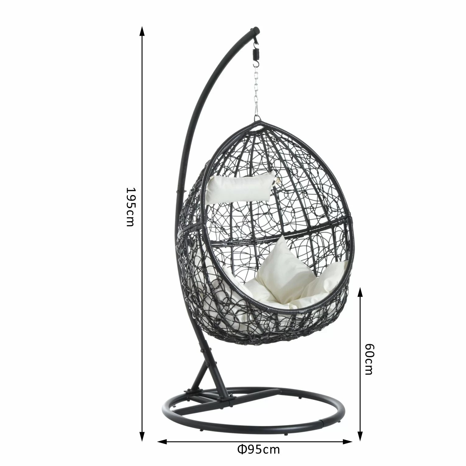 egg chair stand only small round patio table and 2 chairs bel Étage hanging with reviews wayfair