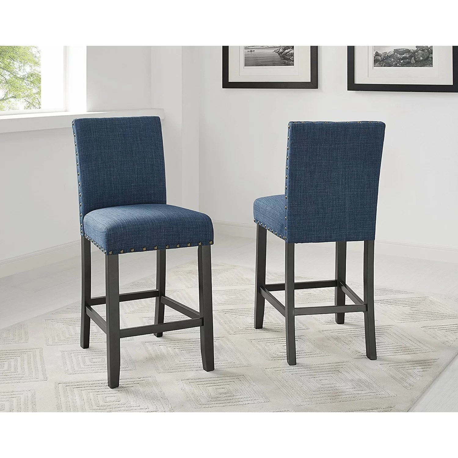 Bar Height Dining Chairs Brayden Studio Raquel Wood Counter Height 5 Piece Dining