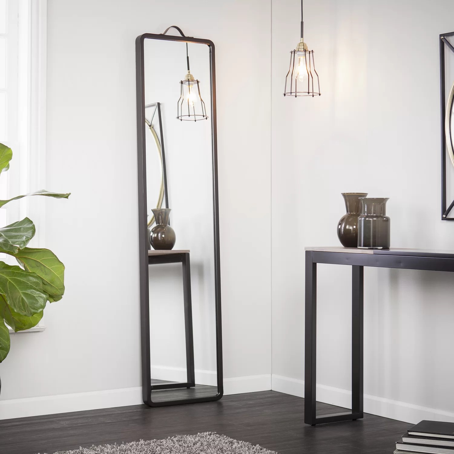 Latitude Run Modern Floor Leaning Full Length Mirror  Wayfairca