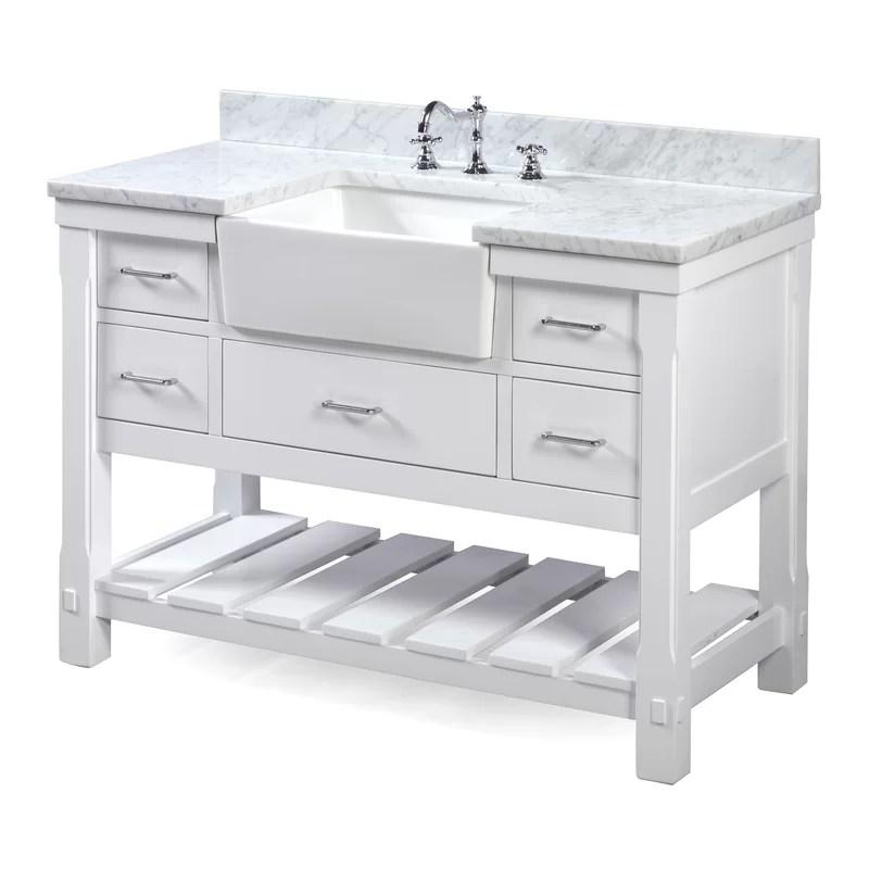 KBC Charlotte 48 Single Bathroom Vanity Set  Reviews  Wayfairca