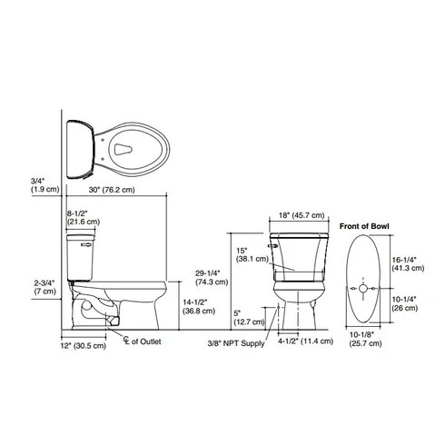 Kohler Wellworth Two-Piece Elongated 1.28 GPF Toilet with