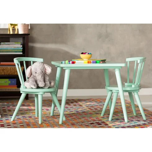 Viv  Rae Justine Windsor 3 Piece Table and Chair Set by Delta  Reviews  Wayfair