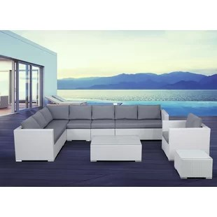 living room sets sectionals scandinavian teak furniture 7 piece sectional wayfair grijalva rattan set with cushions