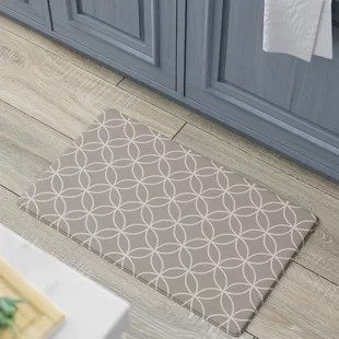 grey kitchen mat cabinet redo mats you ll love wayfair graziano premium