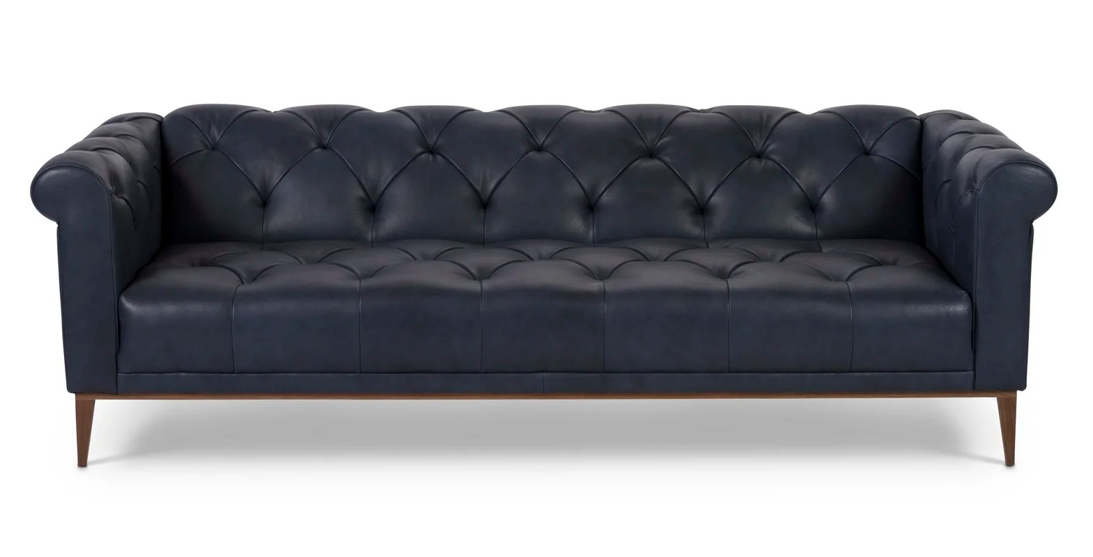reverie sofa cindy crawford denim leather chesterfield and reviews perigold