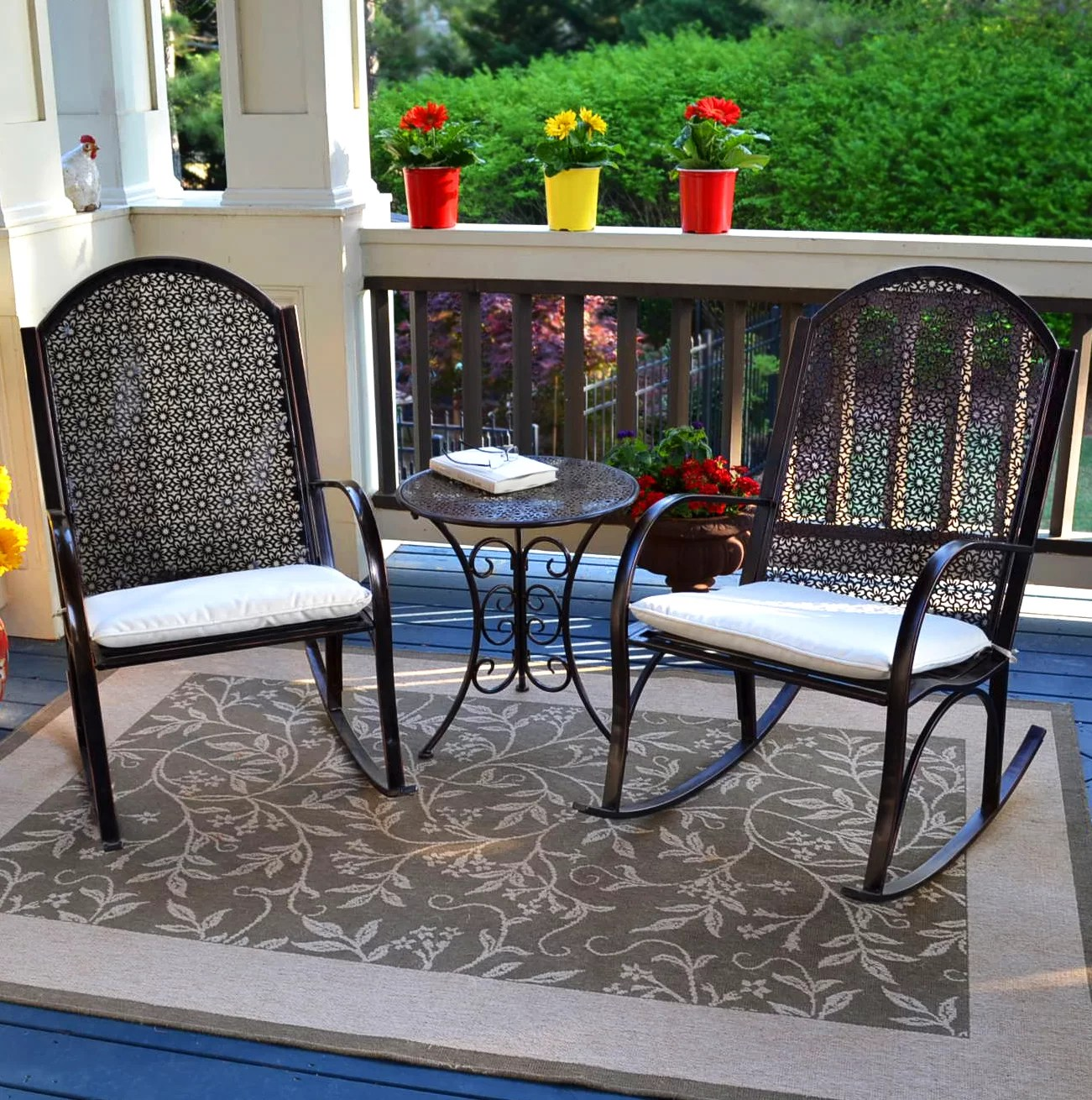 Outdoor Rocking Chair Set Wallace Rocking Chair Set