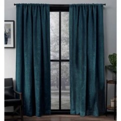 Teal Curtains For Living Room Rooms With Brown Sofas Long Wayfair Save