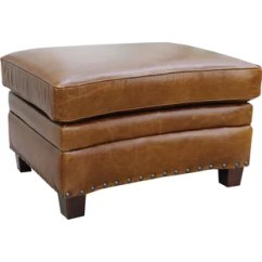 Genuine Leather Chair And Ottoman Inglesina Fast Table Black Real Wayfair Halliburton