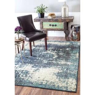 large kitchen rug viva towel extra rugs wayfair montross blue area