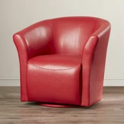 Revolving Chair Used Ekornes Accessories Red Leather Swivel Wayfair Quickview