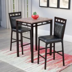 Small Pub Table And Chairs Travel High Chair Booster Seat Tables Bistro Sets You Ll Love Wayfair Eric 3 Piece Set